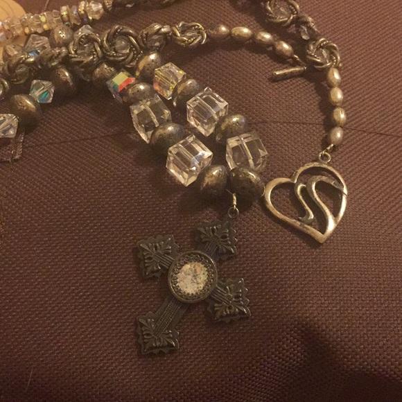 Swarovski Jewelry Vintage Heavy Crystal Cross Necklace Poshmark